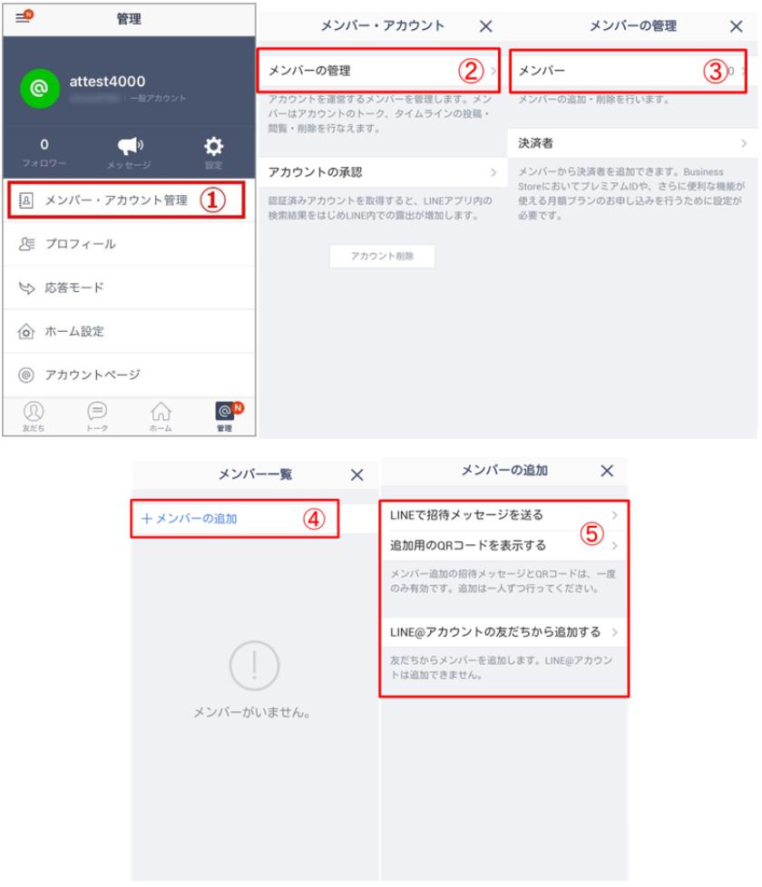 LINE@アプリで追加する方法イメージ