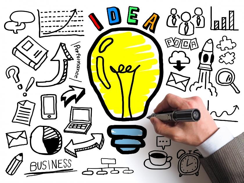 大手企業のカバー画像デザイン事例イメージ